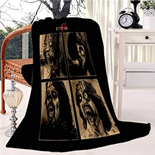 LET IT ZOM BE Bed Blanket Plush Velvet Soft Warm Blanket Lightweight Microfiber Cozy Blanket Christmas Blanket for Bed Cou...