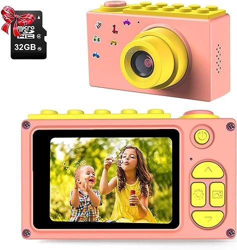 ShinePick Appareil Photo Enfants, Caméra Vidéo avec Carte TF / Zoom Numérique 4X / 8MP / Écran LCD de 2 Pouce Caméra ...