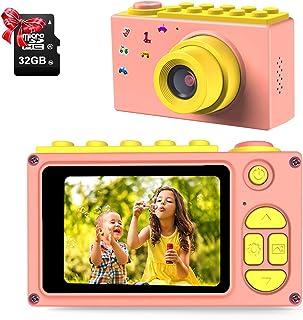 ShinePick Appareil Photo Enfants, Caméra Vidéo avec Carte TF / Zoom Numérique 4X / 8MP / Écran LCD de 2 Pouce Caméra pour ...