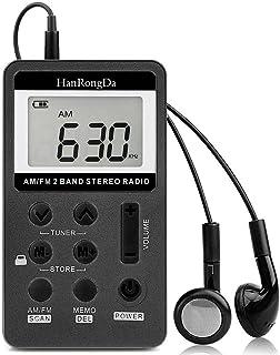 comprar comparacion YZCX Radio Pequeña Portatil, Mini Radio de Bolsillo Pocket Am/FM 2 Bandas de Radio Estéreo DSP Digital Tuning Receptor con...