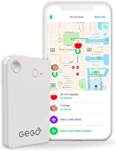 GEGO Luggage Tracker - Worldwide Real Time Tracking Device - Travel Baggage GSM Locator (Better Than GPS) Global 3G/Bluetooth with Mobile App (Airline Compliant) White