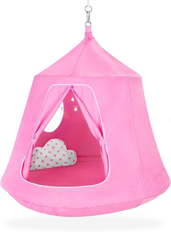 Best Choice Products Kids Indoor  Outdoor Hanging Hammock Swing