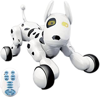 Hi-Tech Wireless Interactive Robot Puppy, Robot Dog, Remote Control Dogs for Boys/Girls Children Birthday Gift, White