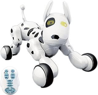 Chiot Robot interactif sans fil Hi-Tech, chien robot, chiens télécommandés pour cadeau d'anniversaire pour enfants garçons / filles, blanc