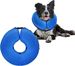 UMARDOO Inflatable Recovery Cone Collar,Blow Up Dog Cone,Soft Post Surgery Collar for Dogs and Cats with Adjustable Buckle