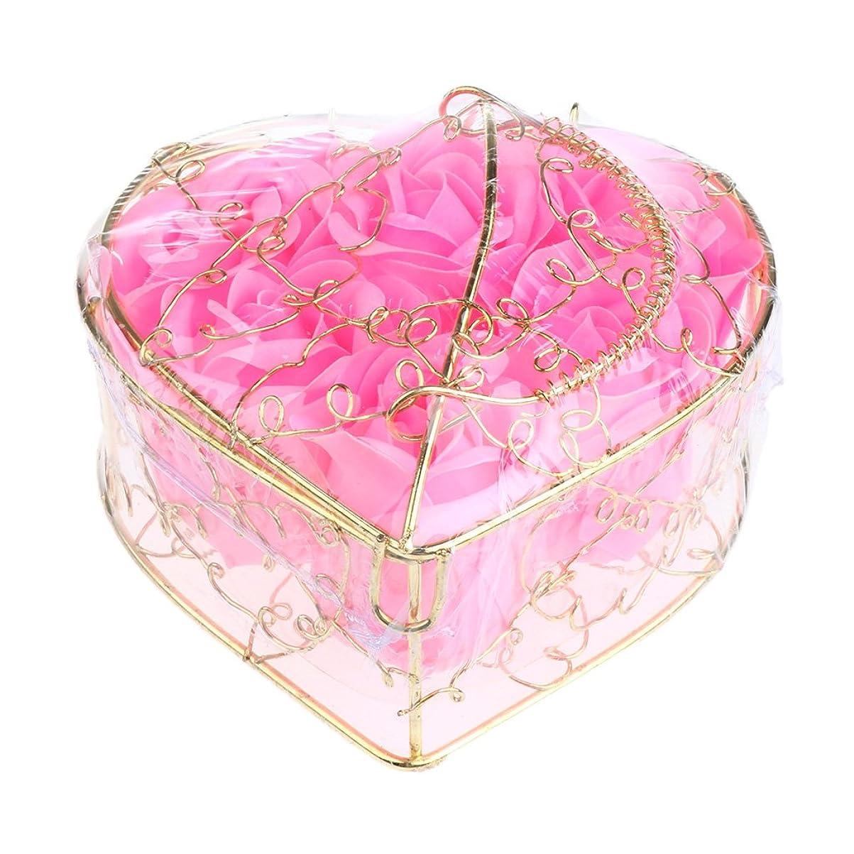 困惑する町マルコポーロKesoto 6個 石鹸の花 バラ 石鹸の花びら 母の日 ギフトボックス ロマンチック 全5タイプ選べる - ピンク