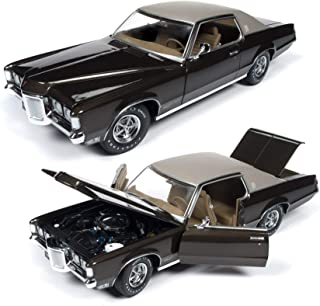 AMM1175 American Muscle 1969 Pontiac Grand Prix SJ (MCACN) 1:18 Scale Diecast Model Car in Expresso Brown