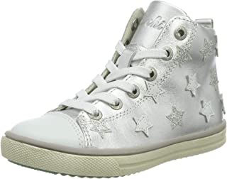 Geox XLED Mädchen: dunkelsilberne Sneakers High | Geox ®