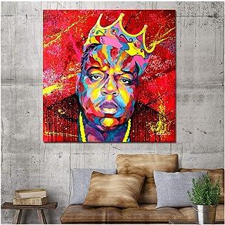 Carteles de arte de pared Biggie Ready to Die Music Singer Star Impresión de lienzo Cuadros de pared para sala de estar Pintura de pared -60x60cm Sin marco