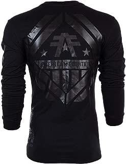 Mens LS T-Shirt Averett Athletic Black Reflective Biker UFC