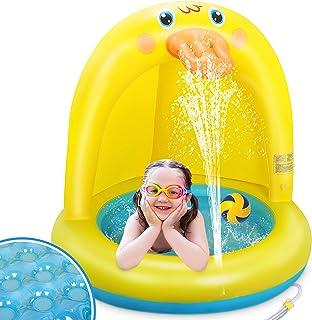 LETOMY Piscinas para Niños, Piscina Inflable para Bebés, Hinchable Infantil, Pequeña Pato Amarillo Splash Pool para Niños,...