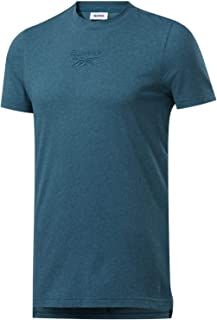 Reebok Men's T-shirt Training Essentials Melange, Heritage Teal