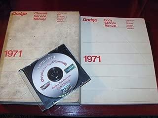 1971 Dodge Car Repair Shop Manual Set Original