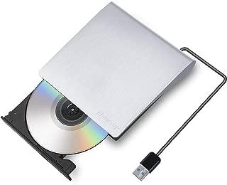 2019最新版 Hihiccup USB 3.0外付け DVD ドライブ DVD プレイヤー ポータブルドライブ CD/DVD読取・書込 DVD±RW CD-RW USB3.0/2.0 Window/Mac OS両対応 高速 静音 超スリム (シルバー)