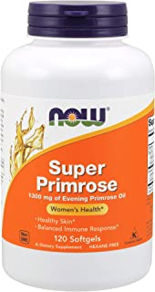 NOW Supplements, Super Primrose 1300 mg with Naturally Occurring GLA (Gamma-Linolenic Acid), 120 Softgels