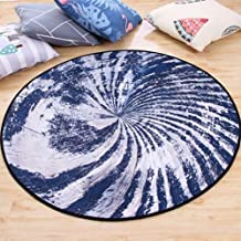 Round Rug Soft Crystal Velvet Study Sofa Coffee Table Pad Non-Slip Washable Machine Washable Carpet,4,160cm