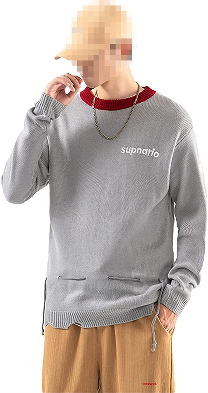 Classic O-Neck Max 71% OFF Sweater Men's Oversize for Pullover Long Sleeves Regular dealer