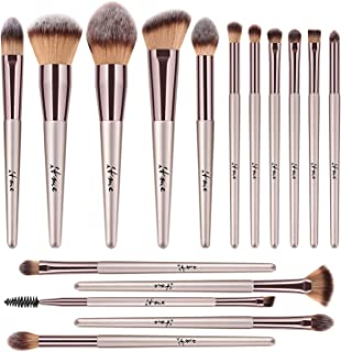 Makeup Brushes, ITME [Upgrade Version] Premium Makeup Brush Synthetic Cosmetics Professional Handle Makeup Brushes set, Kabuki Foundation Blending Makeup Brush Kit (Pack of 16,Rose Gold Champagne)