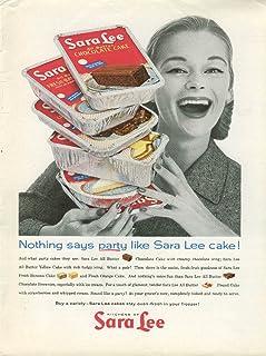 Nothing says party like Sara Lee Cake! Ad 1960