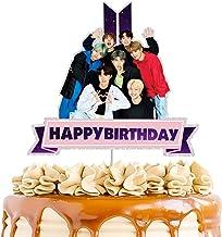 REYOKG BTS Global Boy 7pcs Cake Toppers Set Fingure Characters Set di Action Figure Toys Cake Topper per BTS Forniture per Feste di Compleanno Ornamenti Decorativi