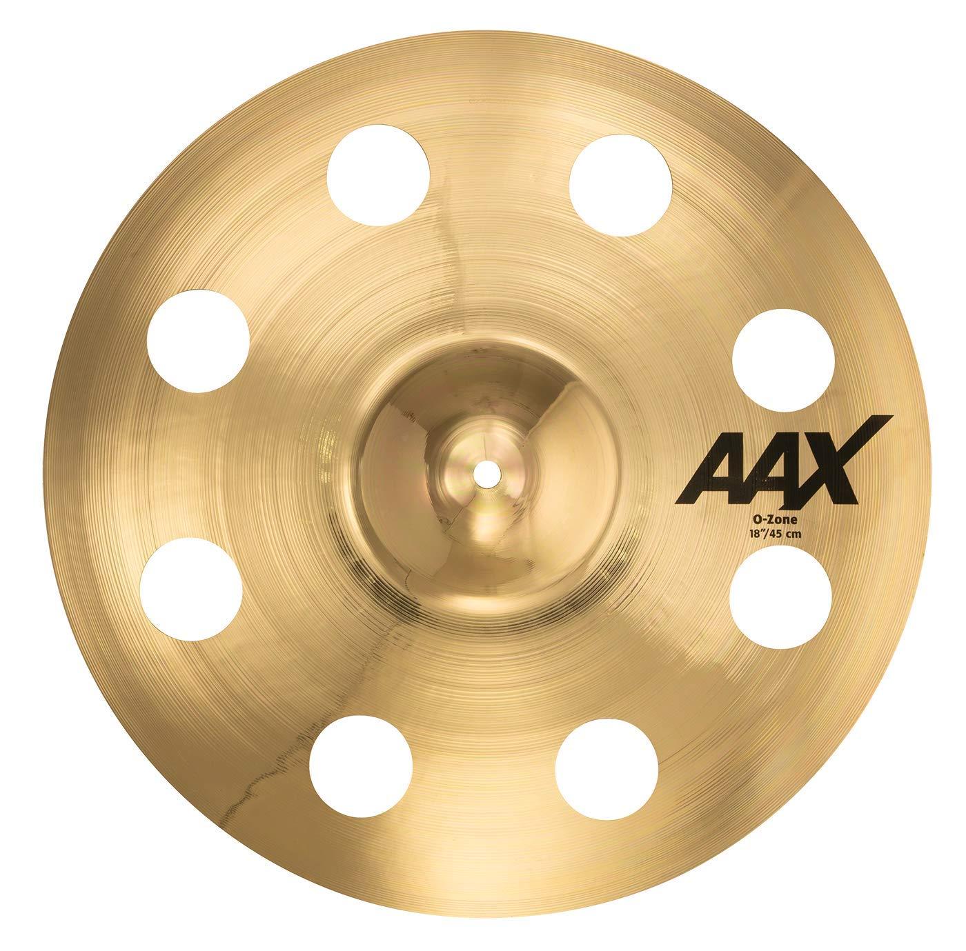 "Sabian AAX 18"" O-Zone Crash Cymbal, Brilliant Finish, inch (21800XB)"