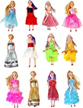 Butterfly Craze Miniature Doll Play-Set Bundle with Princess and Fashion Clothes Accessories. Great for Birthday Party Favors, Tea Parties, and Dollhouses. 6