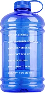 GEMFUL Motivational Large Water Bottle with Time Marker 3 Liters 0.8 Gallon