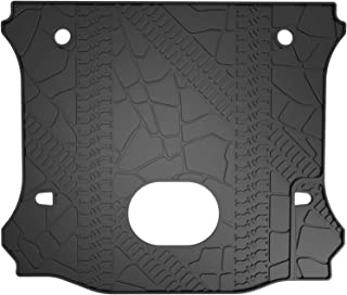 oEdRo Cargo Liner Compatible for 2015-2018 Jeep Wrangler with a Subwoofer, 4 Door Only, All Weather TPE Cargo Tray