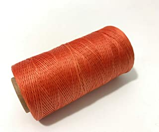 Industrial Revolution 284yd 150D 1mm Sewing Waxed Thread Hand Stitching Cord for Leather Craft DIY (Burnt Orange)