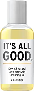 It's All Good Love Your Skin 100% Natural 2 in 1 Deep Cleansing Facial Oil   Non-stripping Oil & Makeup Remover for All Skin Types   Antioxidant, Toxin, Paraben, Gluten & Cruelty free Formula, Vegan