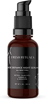 Fresh Rituals Anti Aging Retinol Serum for Face, Hyaluronic Acid Serum with Bakuchiol, Vitamin C | Glycerine for Skin | 1 ounce