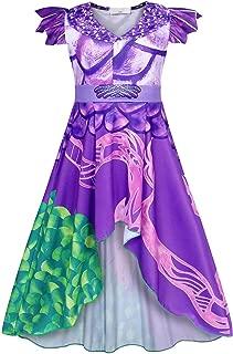 Snow White Belle Little Mermaid Ariel Elsa Anna Princess Costumes Dress Halloween Party 1-8 Years