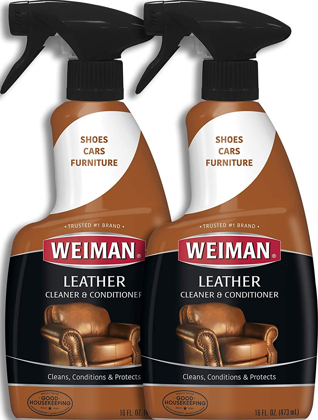 カテナ社会学義務Weiman Leather Cleaner & Conditioner (16?fl oz?–?2パック)
