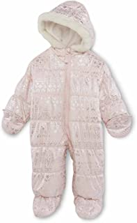 30ec1c90e Carter's Infant Girls Pink Nordic Print Snowsuit Baby Pram Snow Suit 6-9m