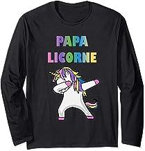 Cadeau de Licorne Pour Papa - Papa Licorne Manche Longue
