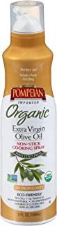 Pompeian USDA Organic Extra Virgin Olive Oil Non-Stick Cooking Spray, Full-Bodied, Perfect for Salads and Pasta, Naturally...