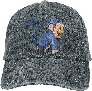 Negi Cute Blue Monkey Cowboy Cap Unisex Adjustable Snapback Baseball Hat
