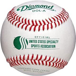 Diamond Usssa Dol-A Leather Baseballs 12 Ball Pack