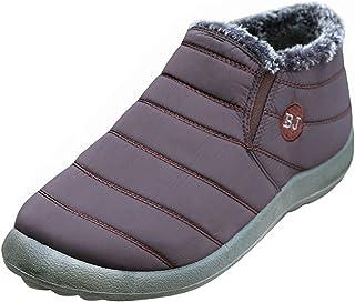 Minetom Hommes Femme Chaussures Bottes de Neige avec Chaud Doublure Cheville Hiver Boots Imperméable avec Epais Fourrure B...