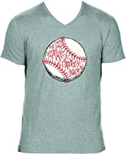 Baseball Take Me Out to Ball Game Heather Grey Women's Triblend V-Neck T-Shirt