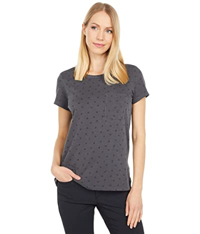 Toad&Co Primo Short Sleeve Crew (Soot Ditsy Print Vintage Wash) Women