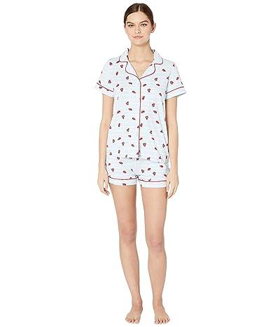 BedHead Pajamas Short Sleeve Classic Shorty Pajama Set (Walk The Line) Women
