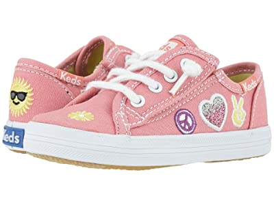 Keds Kids Kickstart Seasonal (Toddler/Little Kid) (Message Pink Patch) Girl