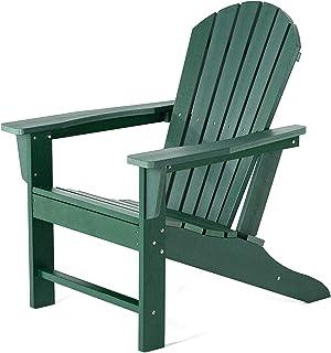 SERWALL Adirondack Chair   Adult-Size, Weather Resistant for Patio Deck Garden, Backyard & Lawn Furniture   Easy Maintenan...