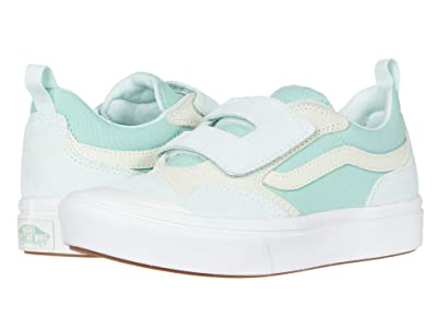 Vans Kids Autism Awareness ComfyCush New Skool V (Little Kid) ((Autism Awareness) Green) Girls Shoes