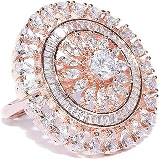 Zaveri Pearls Ring for Women (Rose Gold) (ZPFK8386)