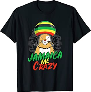 Jamaica Me Crazy Jamaican Reggae Funny Cat Flag Hat T-Shirt T-Shirt