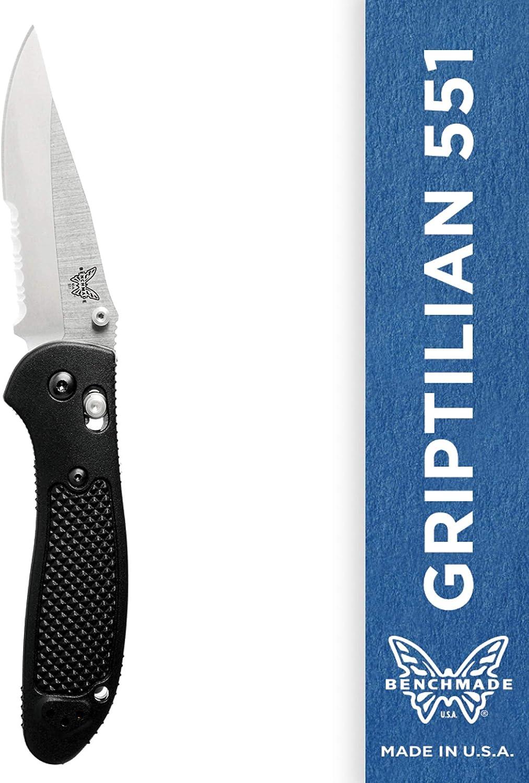 Benchmade UnisexAdult Knife, Satin Finish Black Handle