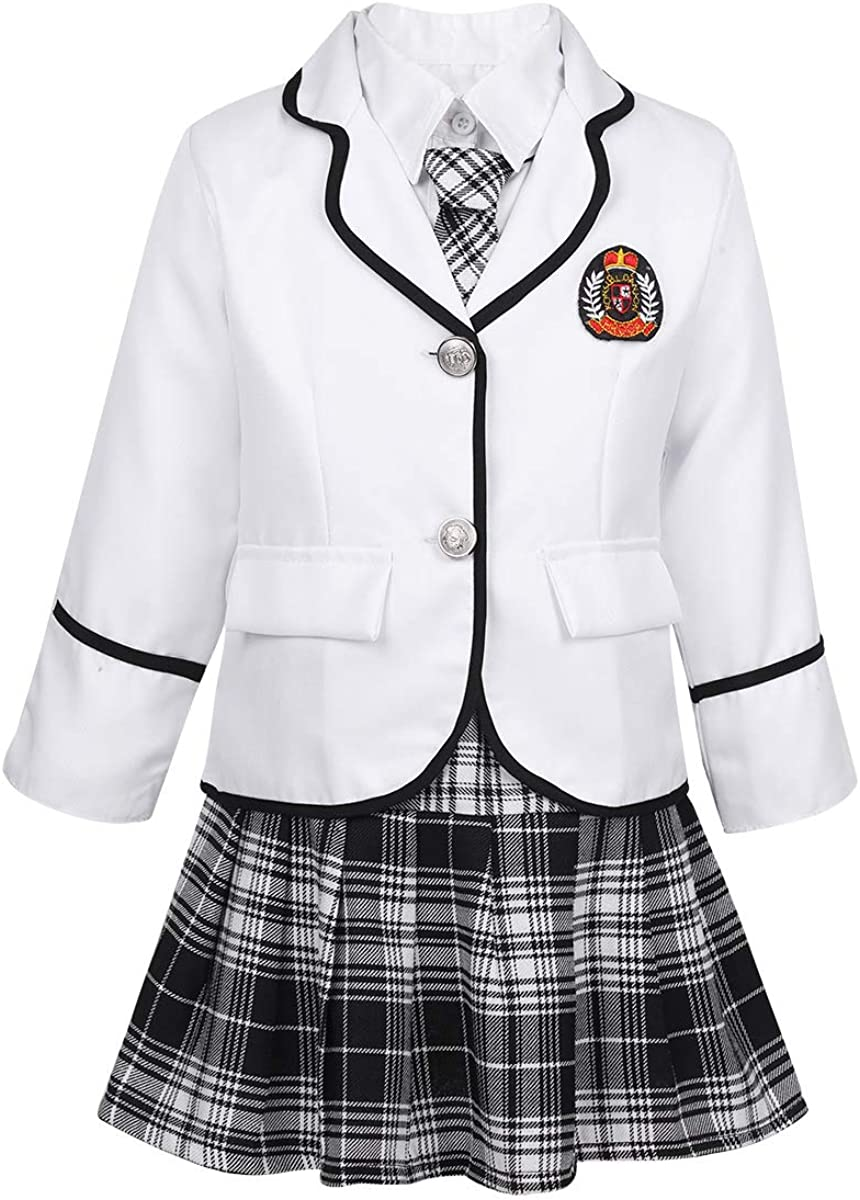 Oyolan Kids Girls 4PCS British Style Set Outfit Free shipping / New Anime L Japanese Louisville-Jefferson County Mall