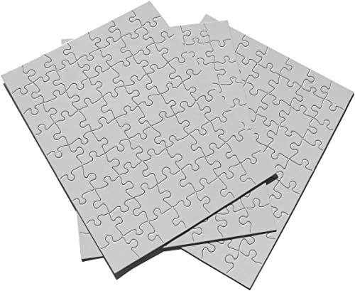 Inovart Puzzle-It Blank Puzzles 63 Piece 8-1 2 x 11 - 12 Per Package